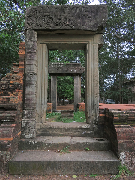 All framed up at Wat Preah An Kau Sai in Siem Reap, Cambodia.