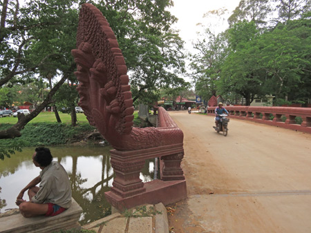 A bridge over troubled waters in Siem Reap, Cambodia.