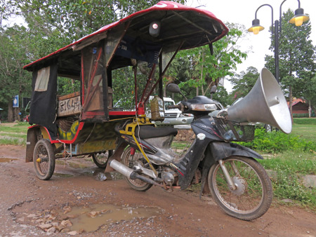 A Cambodian version of the tuk-tuk in Siem Reap, Cambodia.
