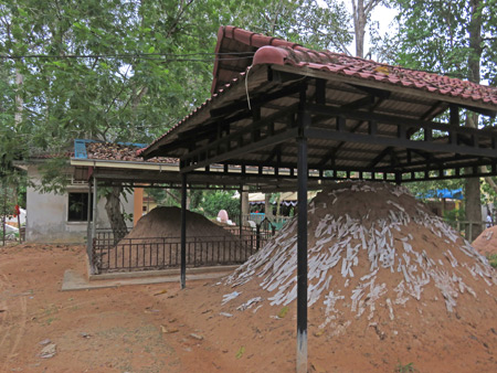A great big lump of holy dirt at Wat Preah An Kau Sai in Siem Reap, Cambodia.
