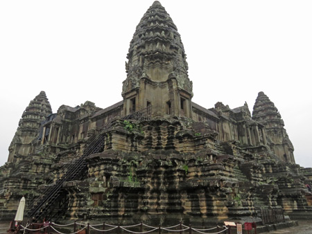 A dreary day at Angkor Wat in Siem Reap, Cambodia.