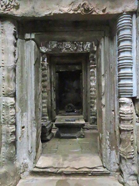 Intricate portals at Ta Keo, Angkor Thom in Siem Reap, Cambodia.