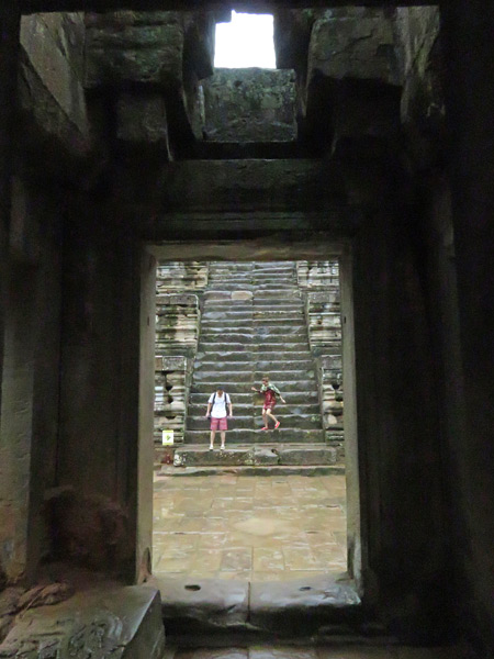 Another insanely steep staircase at Ta Keo, Angkor in Siem Reap, Cambodia.