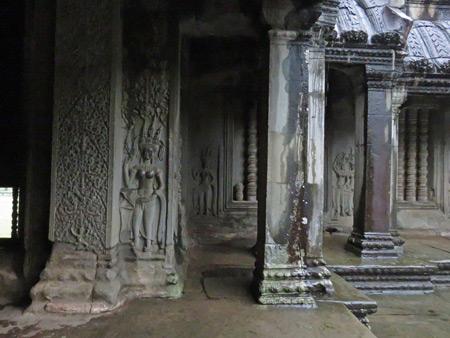 Beautiful carvings at Angkor Wat in Siem Reap, Cambodia.