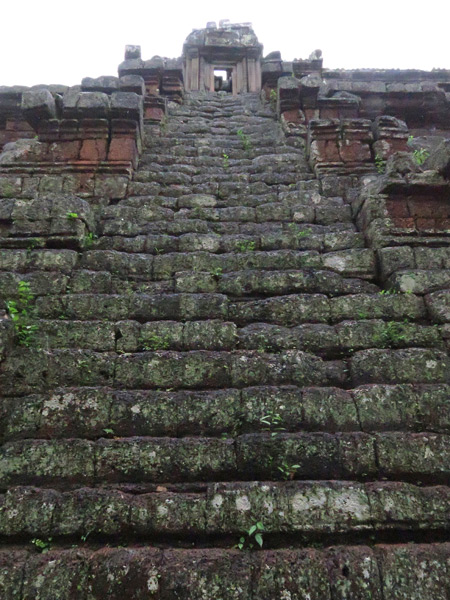 Believe it or not, this is a staircase at Phimeanakas, Angkor Thom in Siem Reap, Cambodia.