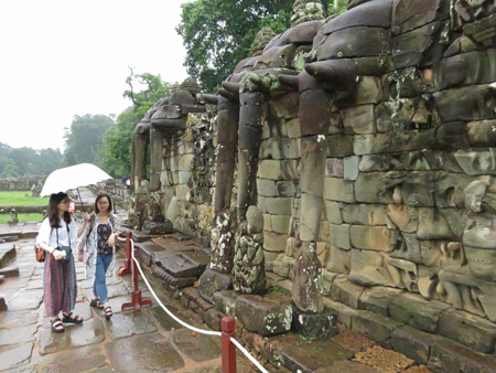 The Terrace of the Elephants, Angkor Thom in Siem Reap, Cambodia.