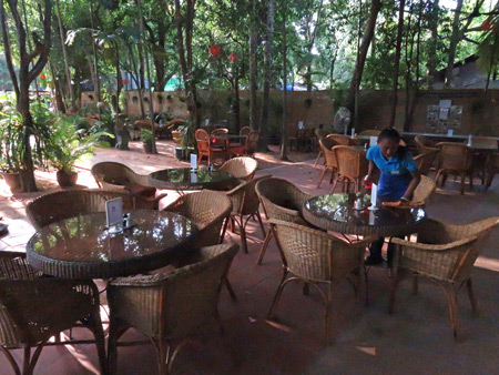 The tranquil setting of the Peace Cafe in Siem Reap, Cambodia.
