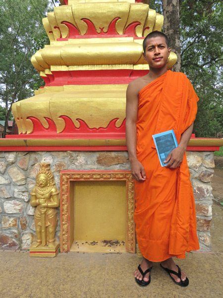 A Buddhist monk at Wat Po Lanka in Siem Reap, Cambodia.