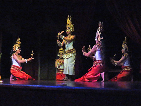 The Apsaras Ballet at the Apsara Theater in Siem Reap, Cambodia.