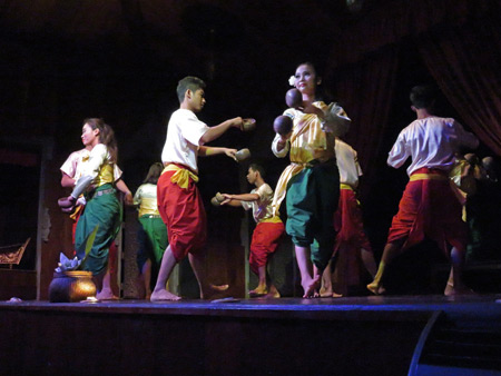 The Coconut Dance at the Apsara Theater in Siem Reap, Cambodia.