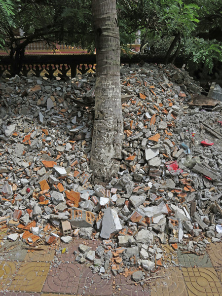 This is the way the cookie crumbles at Wat Kesaram in Siem Reap, Cambodia.