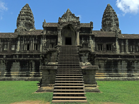 Step inside Angkor Wat in Siem Reap, Cambodia.