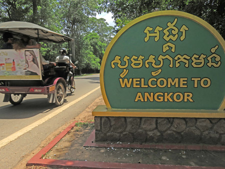 Welcome to Angkor in Siem Reap, Cambodia.