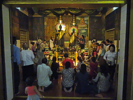A Buddhist prayer service at Wat Preah Ang Chek + Wat Preah Ang Chom in Siem Reap, Cambodia.