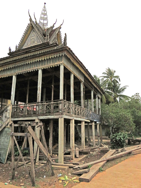A dilapidated temple at Wat Svay in Siem Reap, Cambodia.