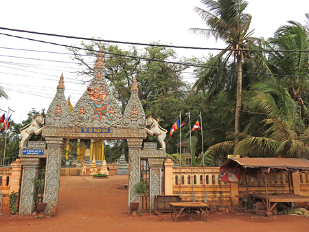The front gate at Wat Svay in Siem Reap, Cambodia.