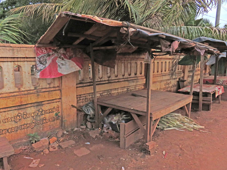 A dilapidated food stall in front of Wat Svay in Siem Reap, Cambodia.