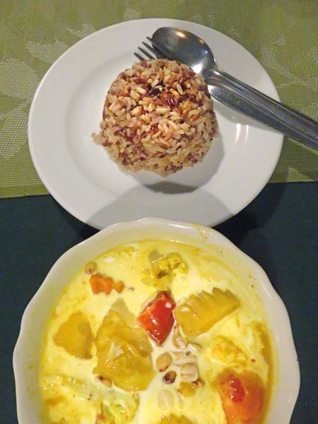 Massaman Curry at May Kaidee's in Banglamphu, Bangkok, Thailand.
