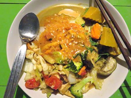 Another amazing meal at May Kaidee's in Banglamphu, Bangkok, Thailand.