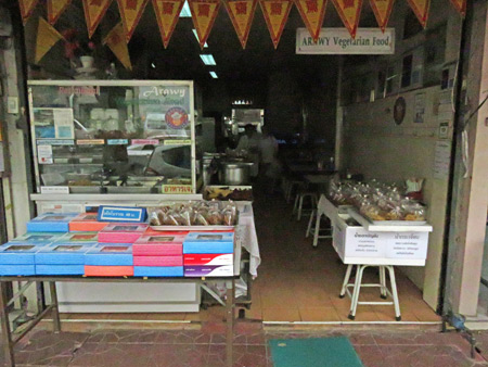 Arawy Vegetarian Food restaurant in Bangkok, Thailand.