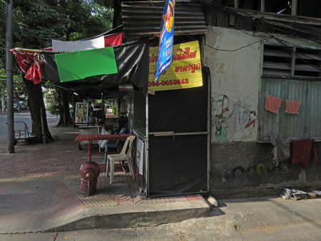 A scenic street scene in Bangkok, Thailand.