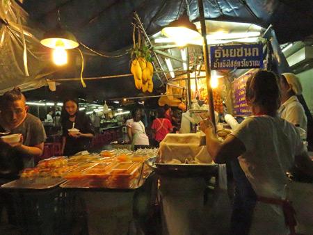 A fruit vendor on Thanon Rambuttri in Banglamphu, Bangkok, Thailand.