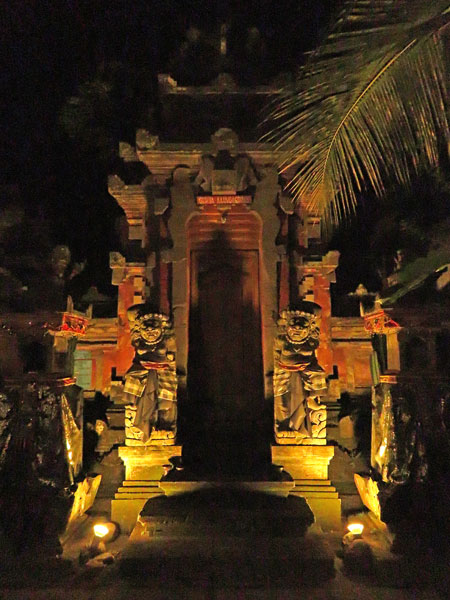 A family compound gate on Jalon Raya Ubud in Ubud, Bali, Indonesia.