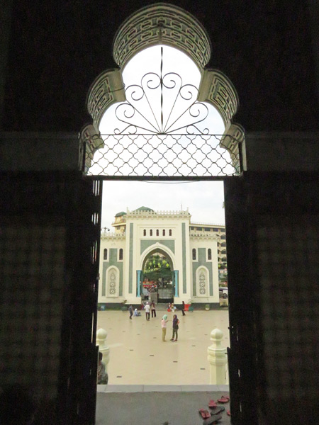 The Mesjid Raya Al Mashun in Medan, Sumatra, Indonesia.
