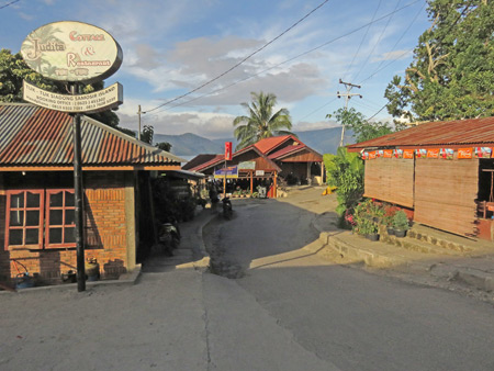Small shops in Tuk Tuk, Danau Toba, Sumatra, Indonesia.