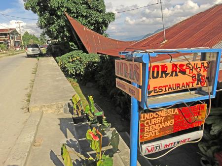 Horas Restaurant in Tuk Tuk, Danau Toba, Sumatra, Indonesia.