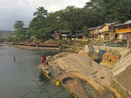 The Bohorok river in Bukit Lawang, Sumatra, Indonesia.