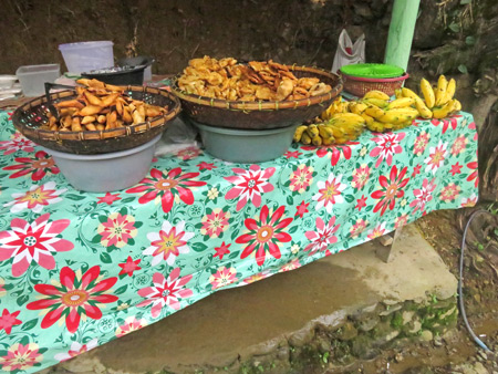 A colorful food stall in Bukit Lawang, Sumatra, Indonesia.