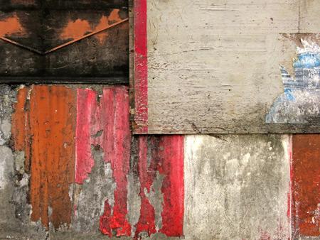 A nicely weathered wall in Bukittinggi, Sumatra, Indonesia.