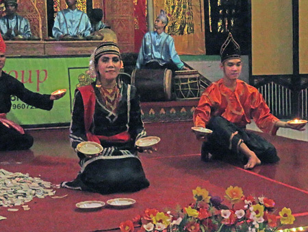 The Sakato Group performs at Medan Bapaneh in Bukittinggi, Sumatra, Indonesia.