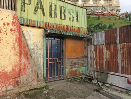 An epic weathered storefront in Bukittinggi, Sumatra, Indonesia.