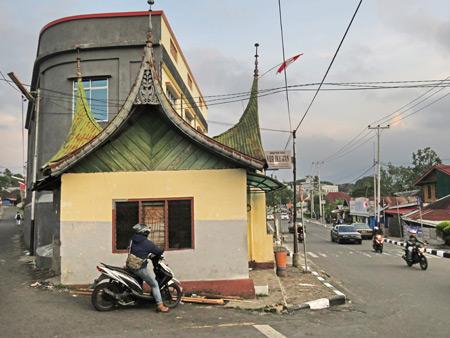A street scene in Bukittinggi, Sumatra, Indonesia.