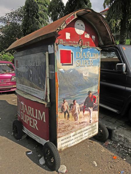 A closed-up cart in Bukittinggi, Sumatra, Indonesia.