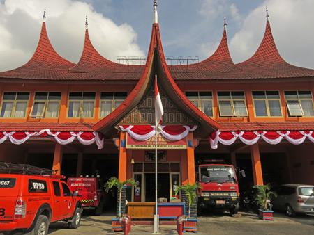 A fancy fire station in Bukittinggi, Sumatra, Indonesia.