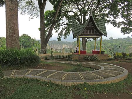 A winding walkway in Taman Panorama in Bukittinggi, Sumatra, Indonesia.