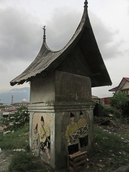 A small booth near the entrance to Fort de Kock in Bukittinggi, Sumatra, Indonesia.