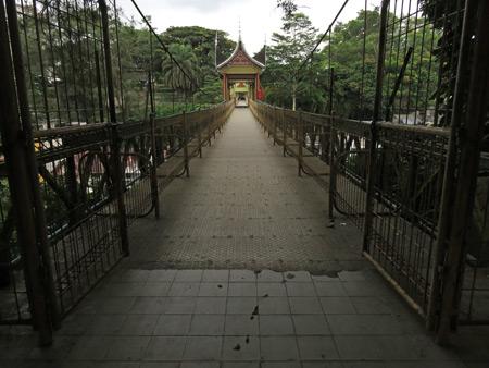 The huge bridge over Jalan Ahmad Yani in Bukittinggi, Sumatra, Indonesia.