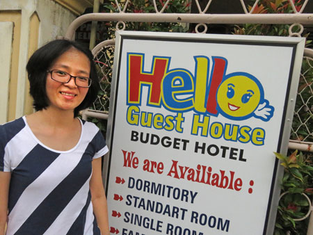 Ling welcomes you to the Hello Guesthouse in Bukittinggi, Sumatra, Indonesia.