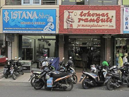 A couple of sweet signs in Bukittinggi, Sumatra, Indonesia.