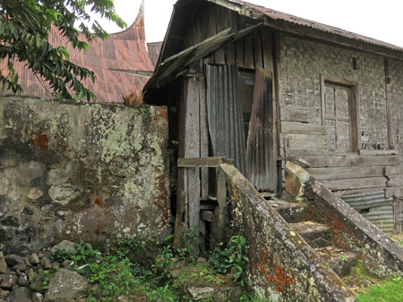 A gnarly weathered structure in Rao Rao near Bukittinggi, Sumatra, Indonesia.
