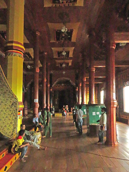 The gorgeous interior of Pagarayung Palace near Batu Sangkar, Sumatra, Indonesia.