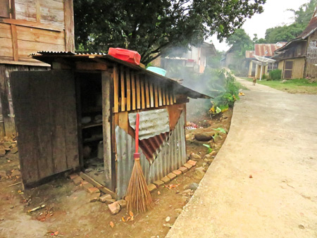 This is someone's smokey kitchen in a small village near Batu Sangkar, Sumatra, Indonesia.