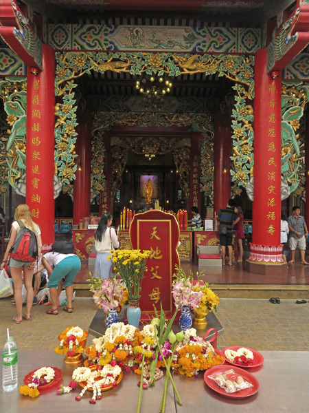 The Kwannon Shrine of the Thien Fah Foundation in Chinatown, Bangkok, Thailand.