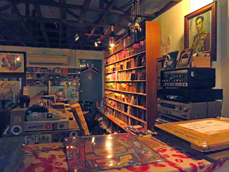 A peak behind the counter at ZudRangMa Records in Thong Lor, Bangkok, Thailand.