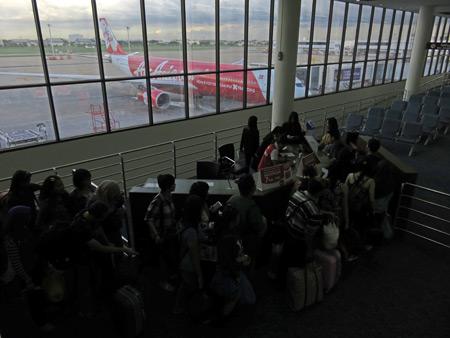 Gate 12 at Don Mueang Airport in Bangkok, Thailand.