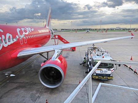 Air Asia flight QZ 155  from Don Mueang Airport in Bangkok, Thailand to Kuala Namu Airport in Medan, Sumatra, Indonesia.